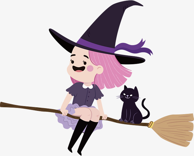 650x522 Lovely Little Witch, Vector Png, Little Witches, Lovely Witch Png