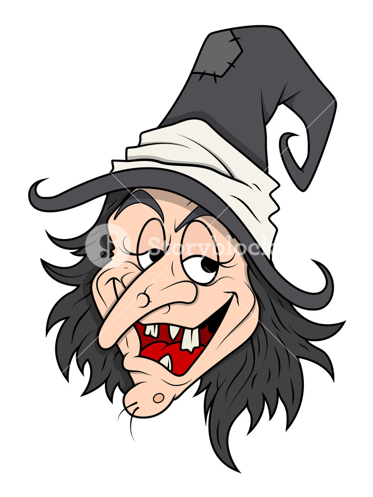 750x1000 Smiling Cunning Halloween Witch Vector Royalty Free Stock Image