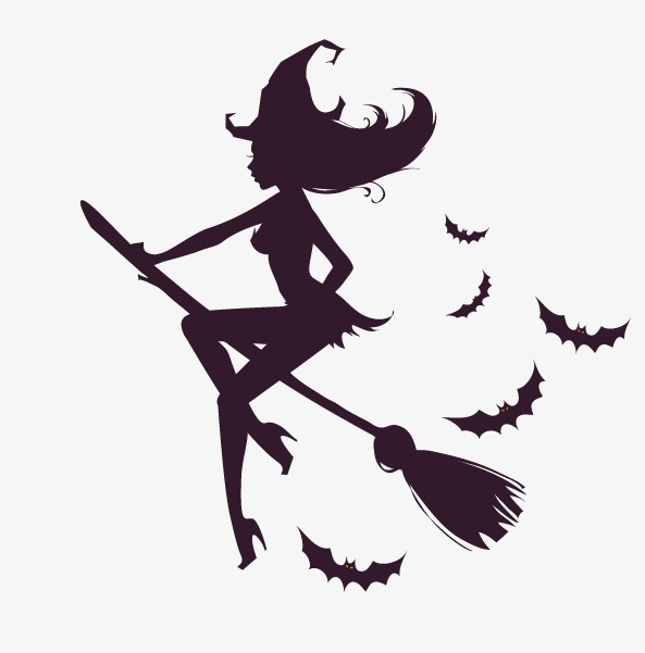 593x601 Vector Witch, Witch, Vector Elements, Bat Png And Vector For Free