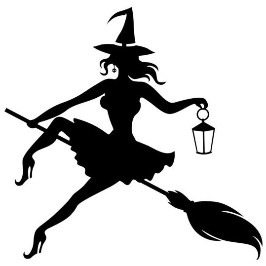 539x539 Witch Fly Silhouette Vector Set 04 Free Download