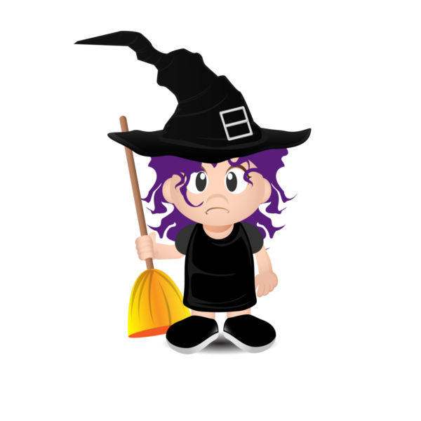 600x600 Witch Vector