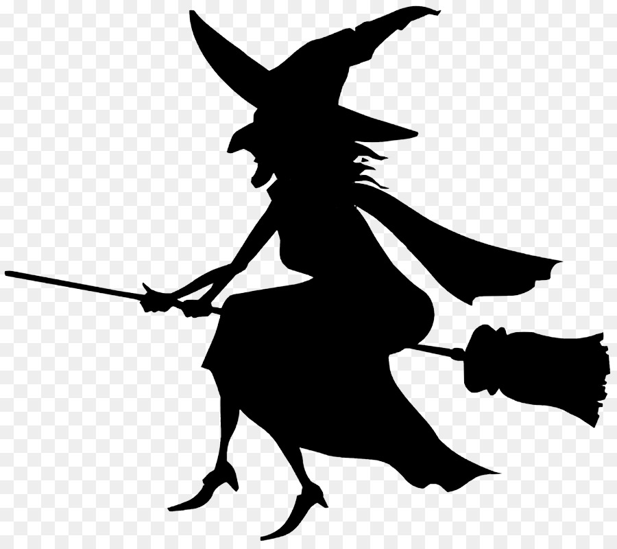 900x800 Witchcraft Black And White Silhouette Clip Art