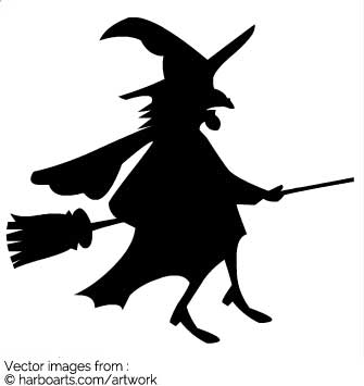 335x355 Download Flying Halloween Witch On Broomstick
