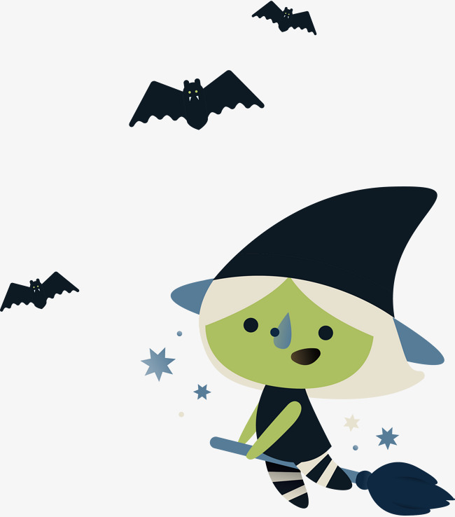 650x738 Flying Witch, Vector Png, Witch, Green Witch Png And Vector For