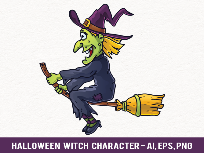 668x501 Free Halloween Witch Vector Character By Pixaroma