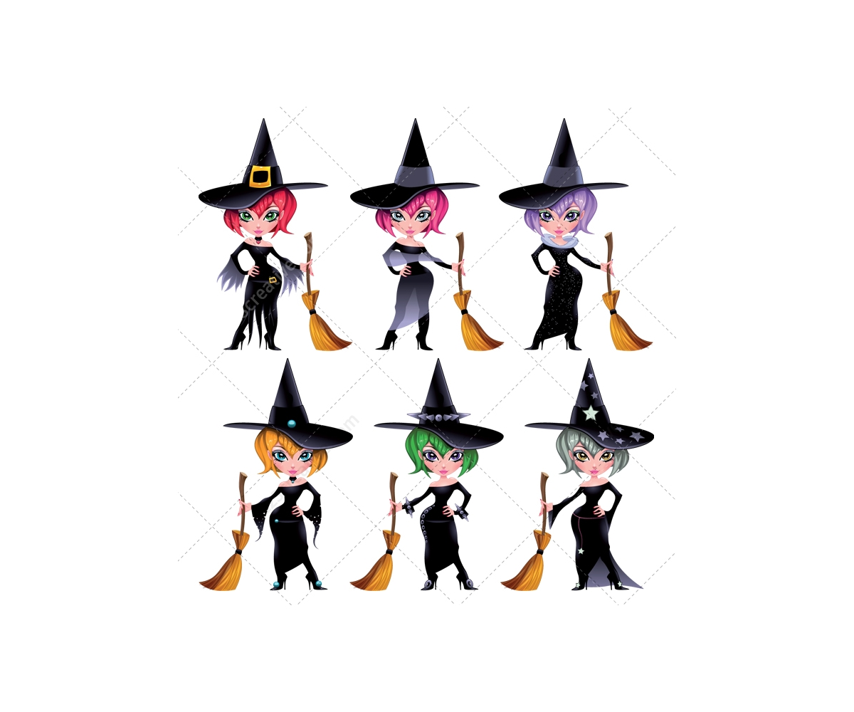 1200x1000 Halloween Background With Witch Motive