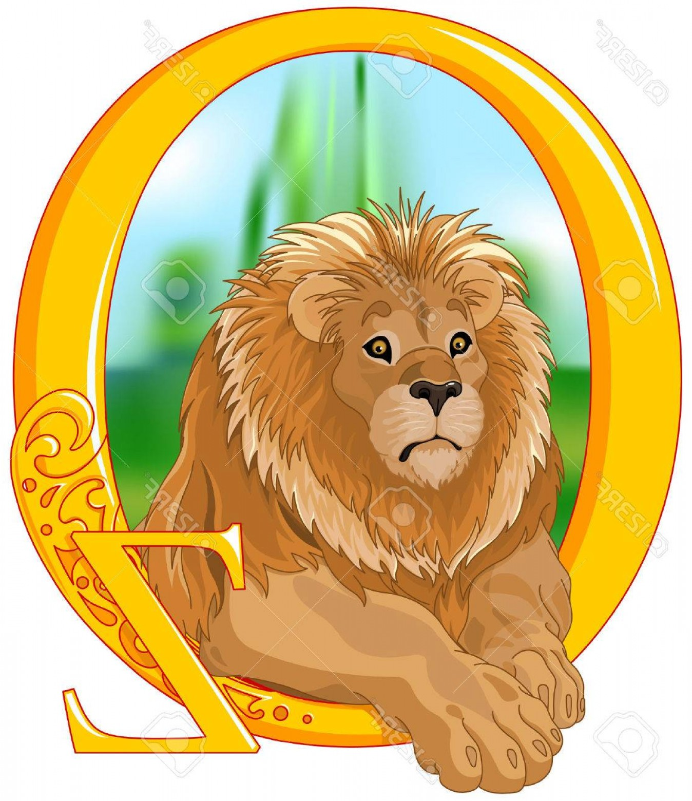 1348x1560 Photostock Vector Illustration Of Cute Lion Wizard Of Oz