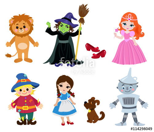 500x427 Wizard Of Oz, Vector Illustration Cartoon. Stock Image And