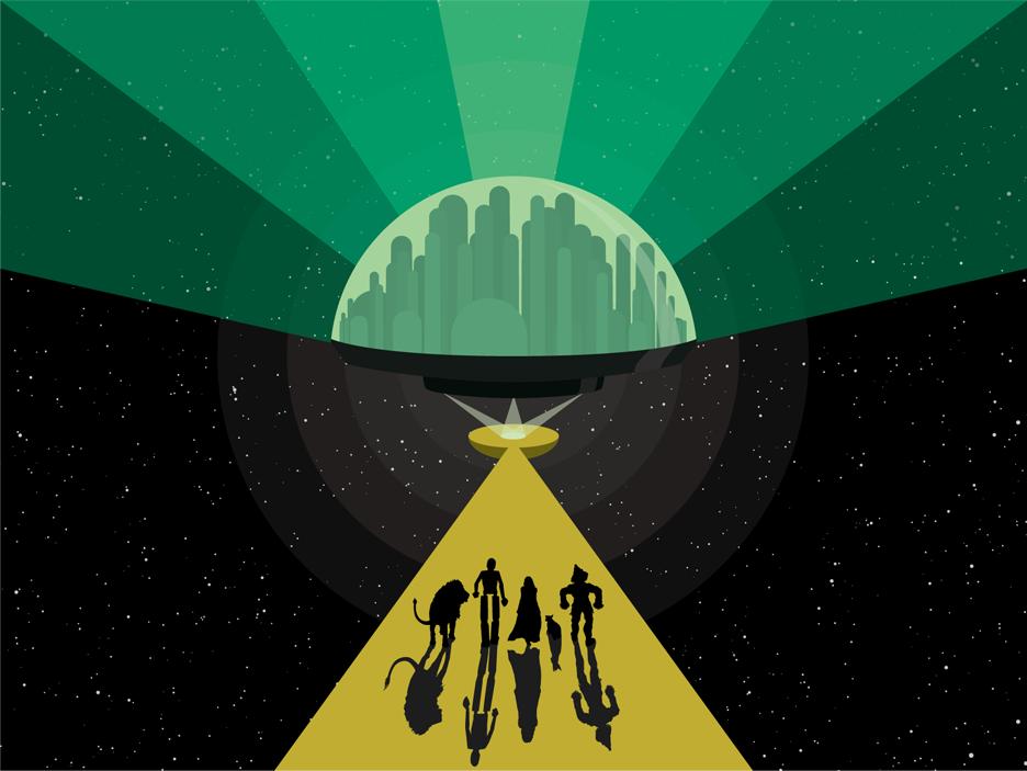 936x703 Space Age Oz Vector Illustration... A Retro Futuristic Take On The