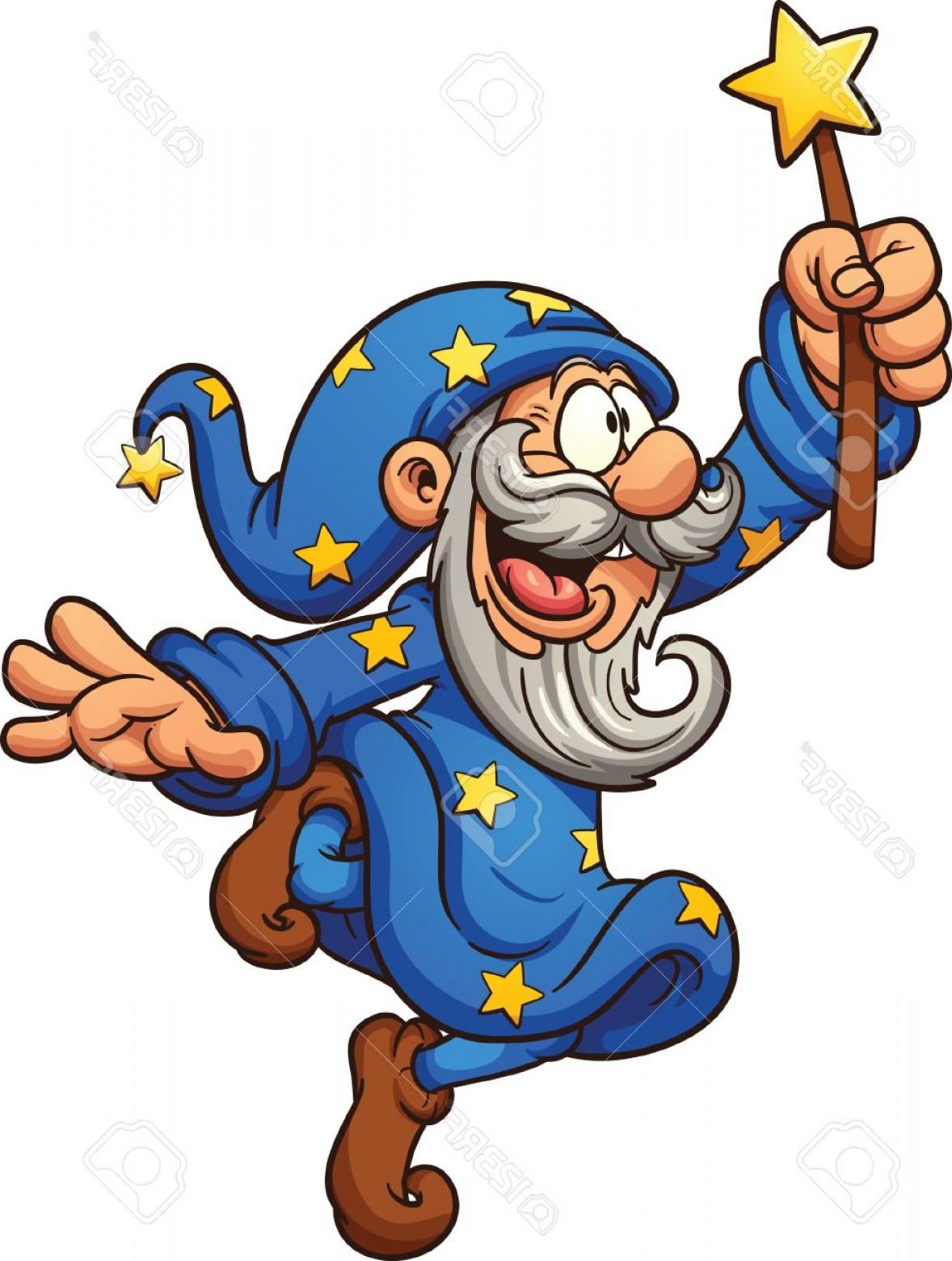 1178x1560 Photostock Vector Cartoon Wizard With Magic Wand Vector Clip Art