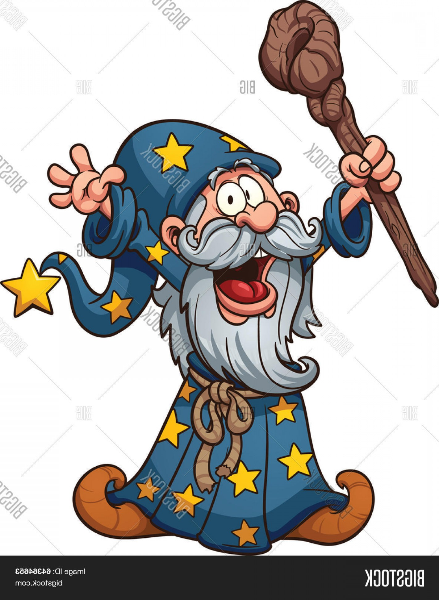 1422x1944 Stock Vector Cartoon Wizard Vector Clip Art Illustration With