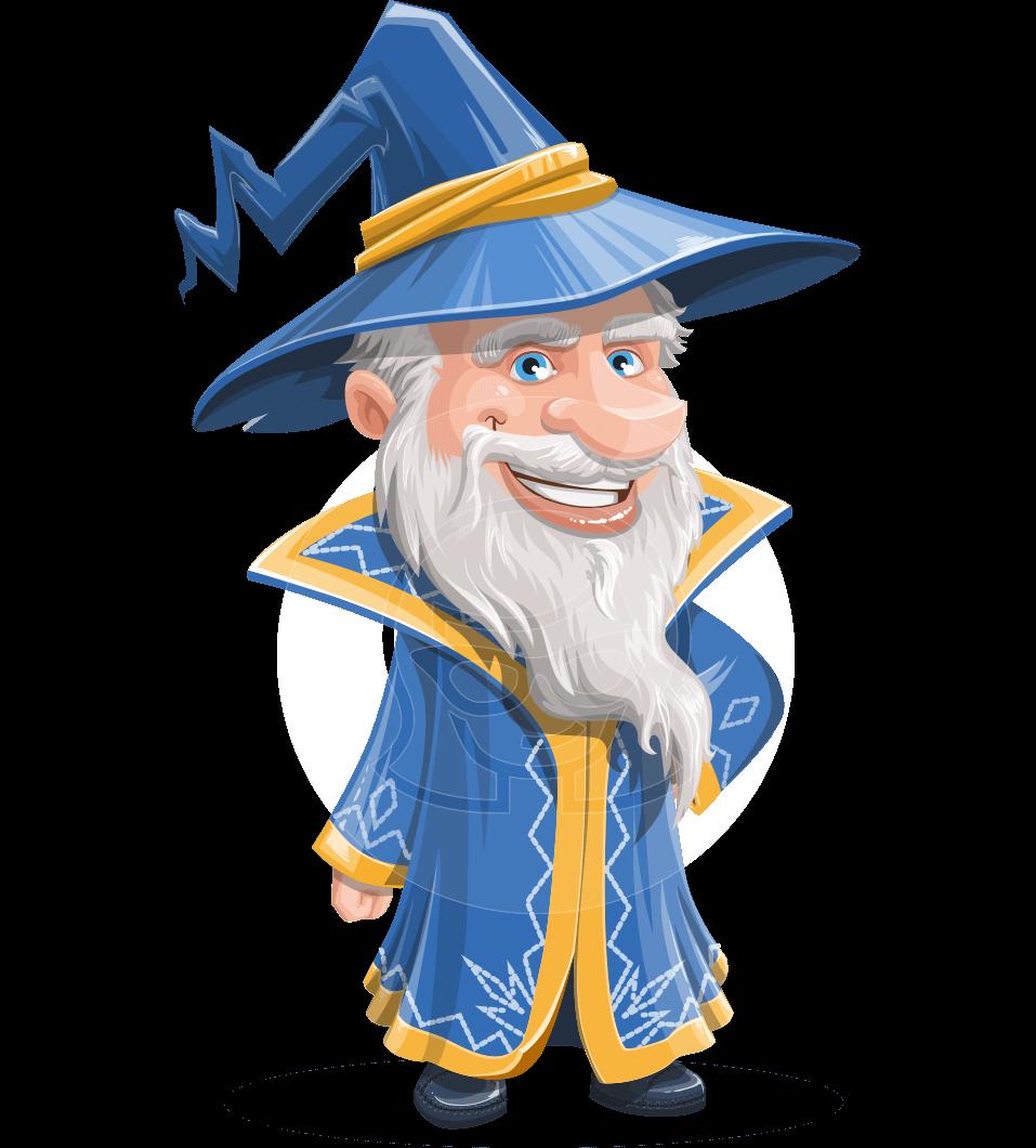 957x1060 Vector Old Wizard Cartoon Character