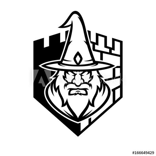 500x500 Wizard Vector Logo Illustration
