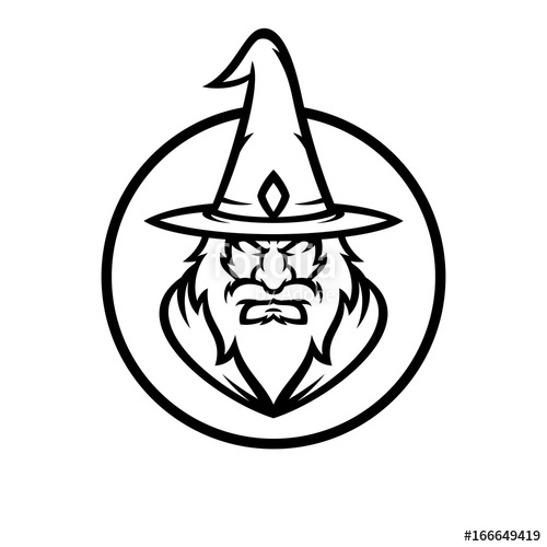 500x500 Wizard Vector Logo Illustration Stock Image And Royalty Free