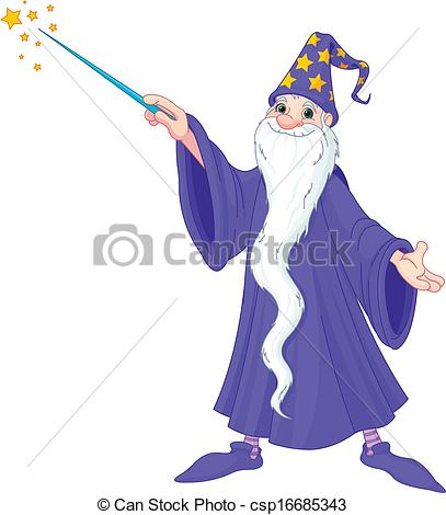 407x470 Cartoon Wizard. Cartoon Wizard Casting Spell .