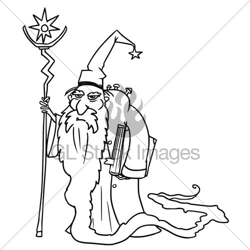 500x500 Cartoon Vector Medieval Fantasy Wizard Sorcerer Or Royal Gl