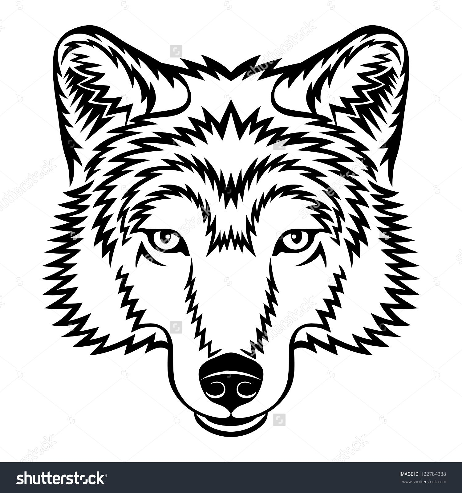 1500x1600 Stock Vector A Wolf Head Logo In Black And White This Is Vector