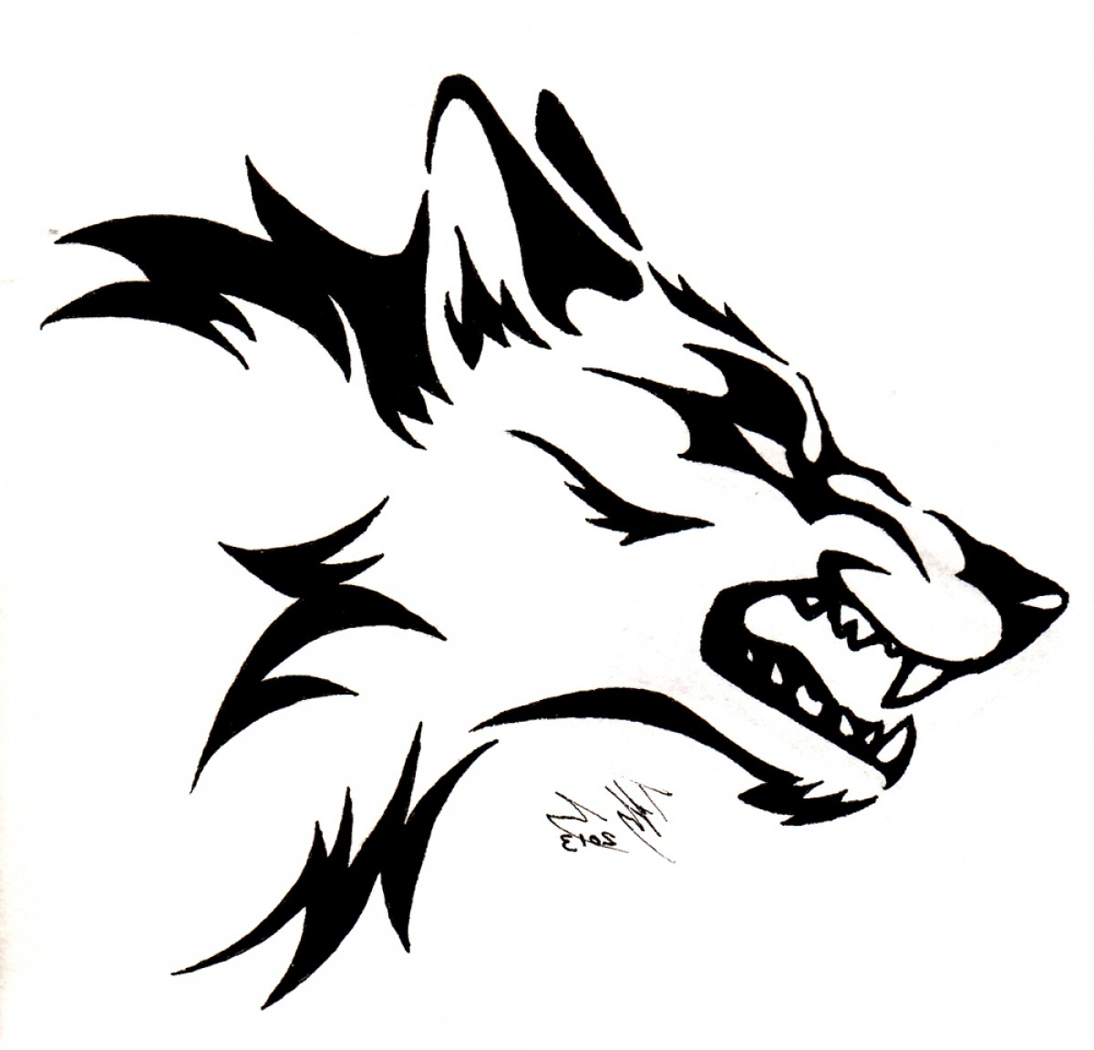 1200x1152 Angry Wolf Face Drawing Wild Wolf Vector Art Graphics Freevector