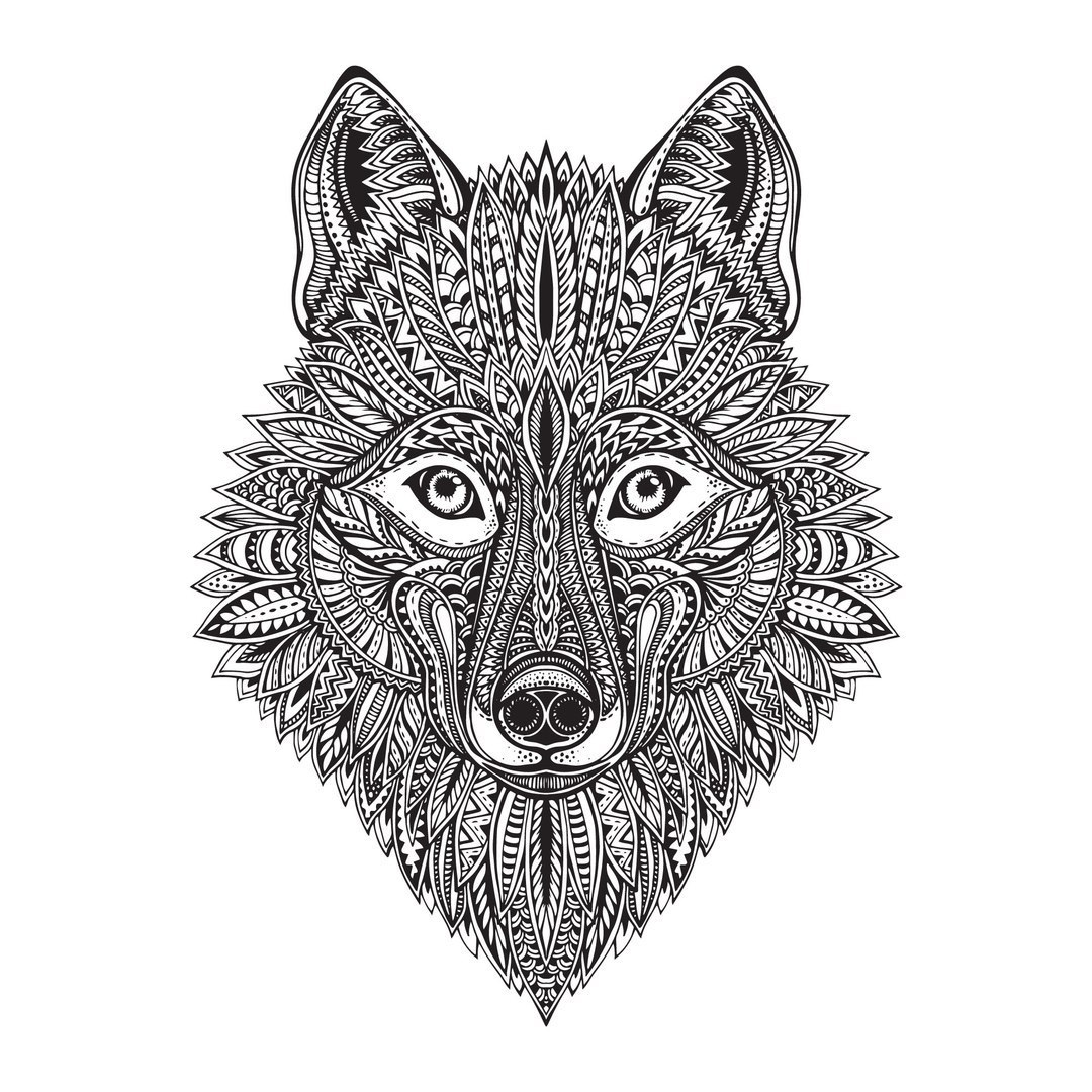 1080x1080 Wolf Face Vector Art Free Vector Download