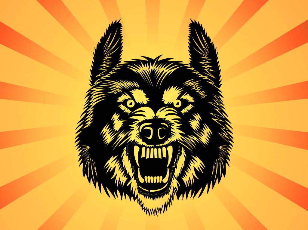 1024x765 Angry Wolf Vector Free Vectors Ui Download