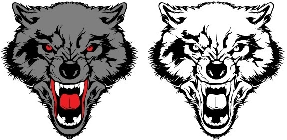 574x280 Wolf Free Vector Download (118 Free Vector) For Commercial Use