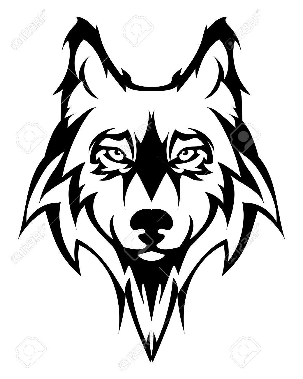 1040x1300 Wolf Face Beautiful Wolf Tattoo.vector Wolfs Head As A Design