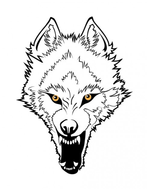 488x626 Angry Wolf Face Vector Free Download