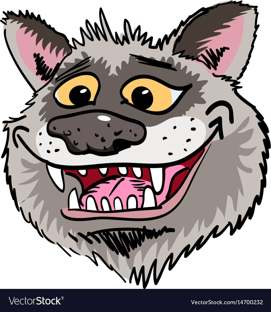 936x1080 Cartoon Image Of Grinning Wolf Face Vector 14700232