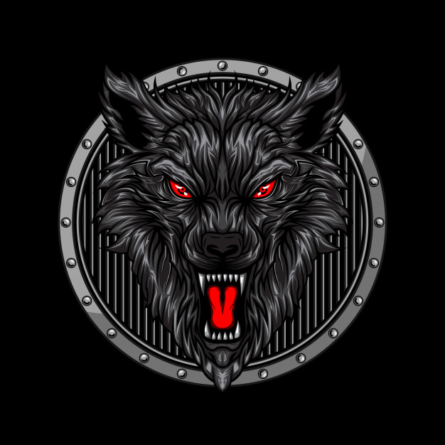 626x626 Angry Wolf Head Vector Premium Download