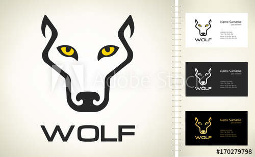500x308 Wolf Head Silhouette. Wolf Logo Vector.