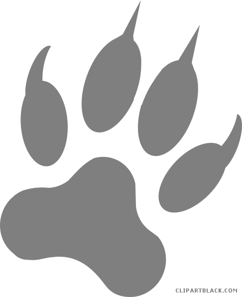 Wolf Paw Print Vector