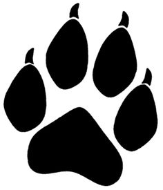 236x275 Cougar Clipart Wolf Paw Cute Borders, Vectors, Animated, Black And