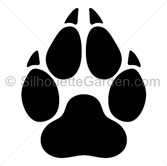 336x334 Pawprint Clipart Wolf Cute Borders, Vectors, Animated, Black And