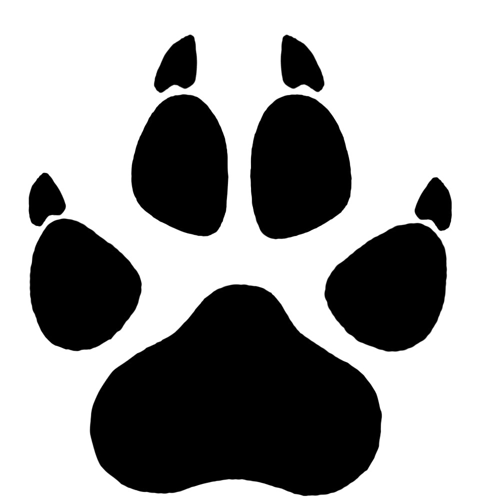 1000x1000 Timber Wolf Paw Print Cliparts Clipart Pie Vectors 1000 19