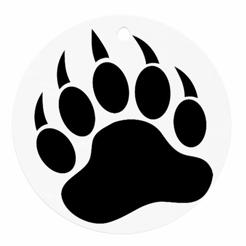 500x500 Wolf Paw Print Clip Art