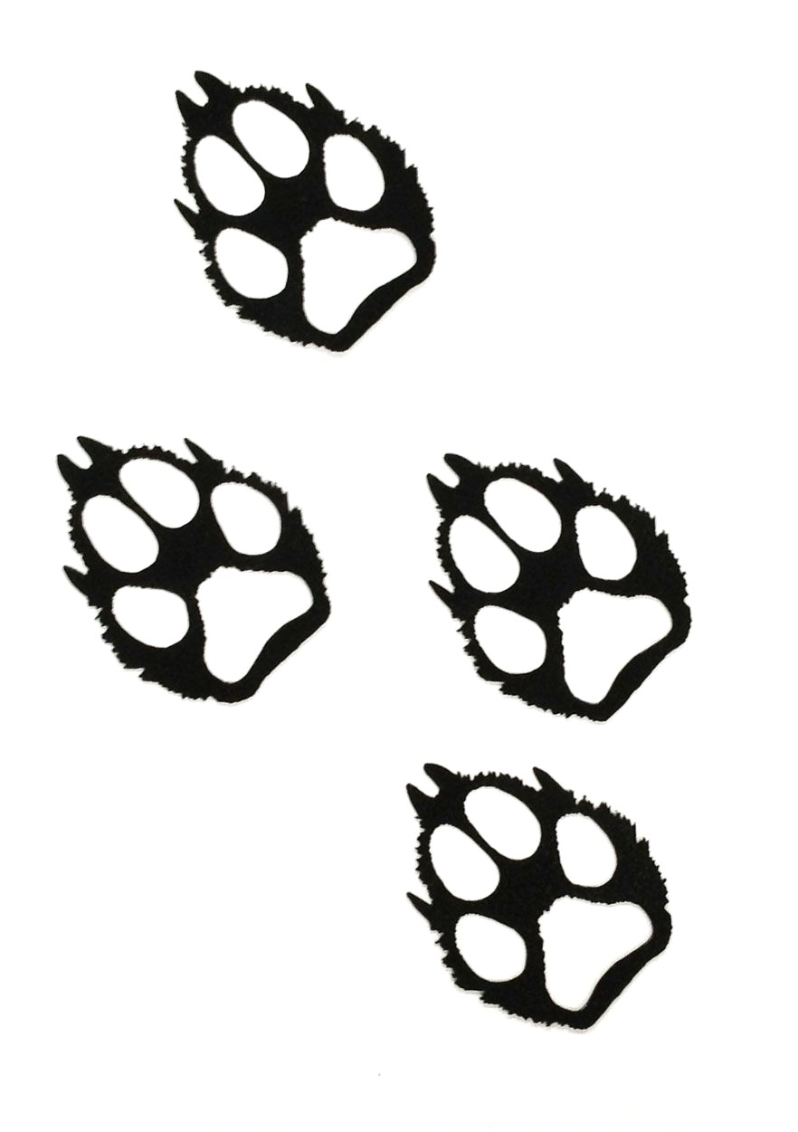 882x1251 97426726 Vector Illustration Wolf Paw Prints Track Icon Black On
