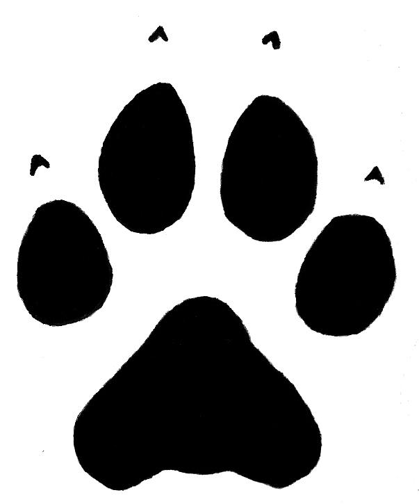 603x725 Clipart Free Paw Wolf