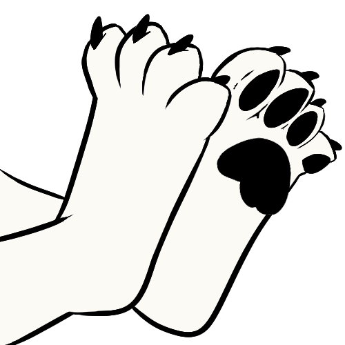 500x500 19 Paws Drawing Wolf Huge Freebie! Download For Powerpoint