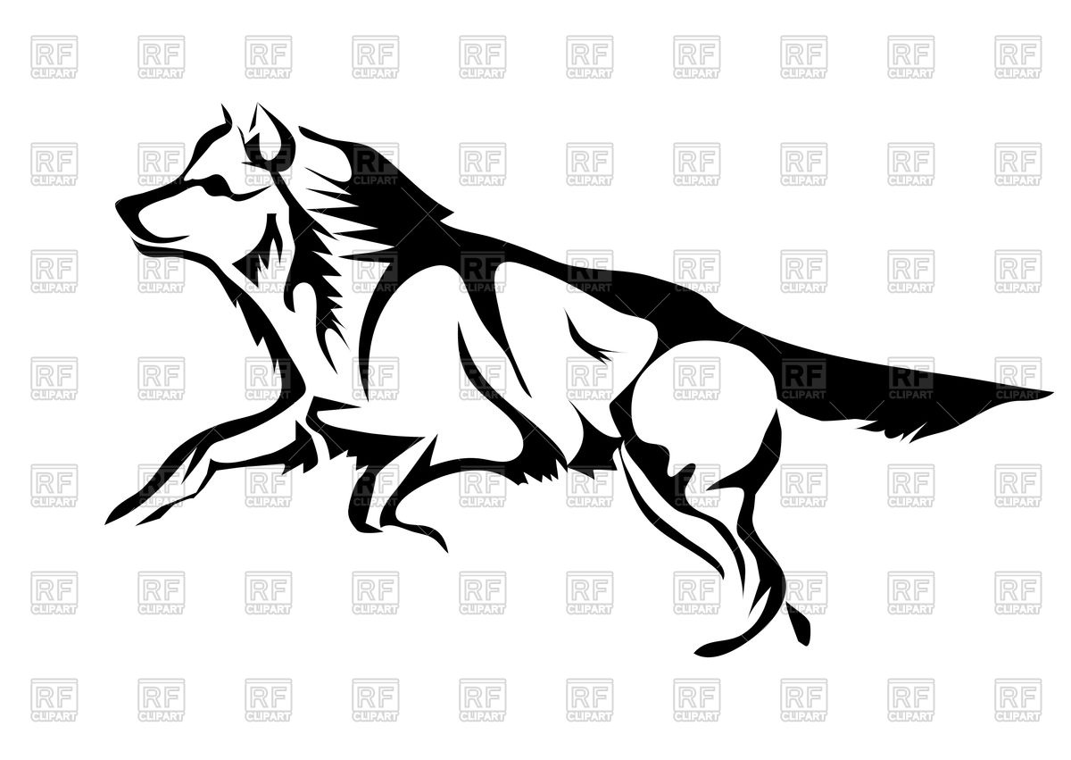 1200x851 Running Wolf Vector Image Vector Artwork Of Plants And Animals