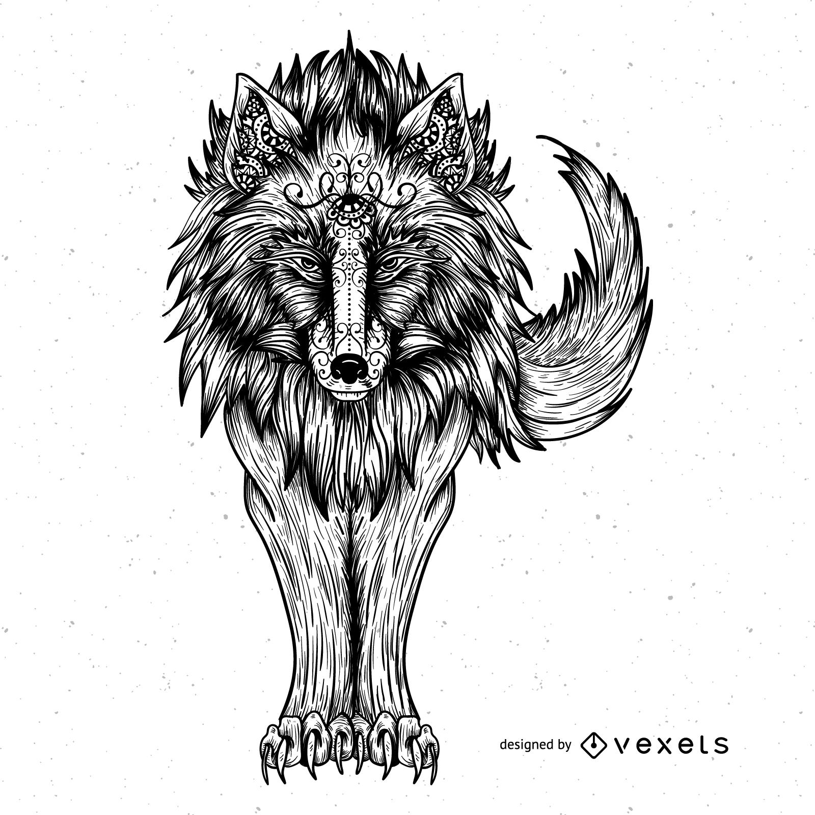 1600x1600 Wolf Vector