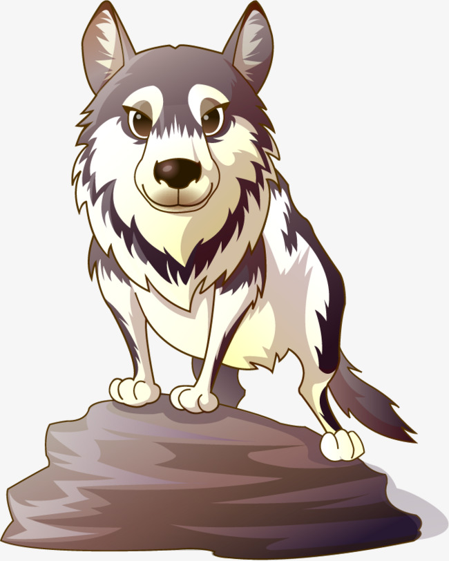 650x812 Wolf Vector Painted On Stone, Vector, Hand Painted, Lovely Png And