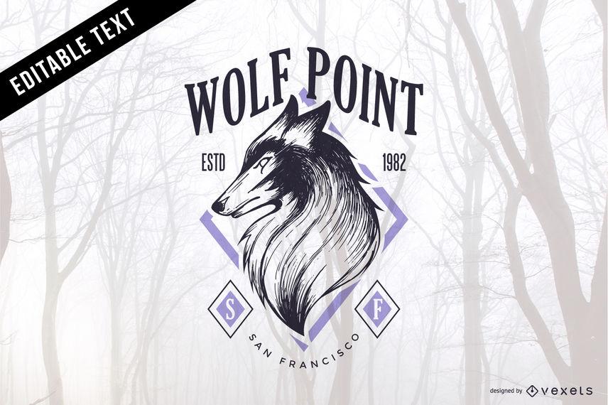 856x570 Wolf Vector Emblem