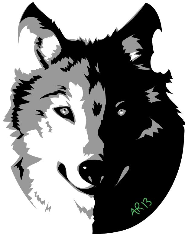 612x792 Wolf Vector