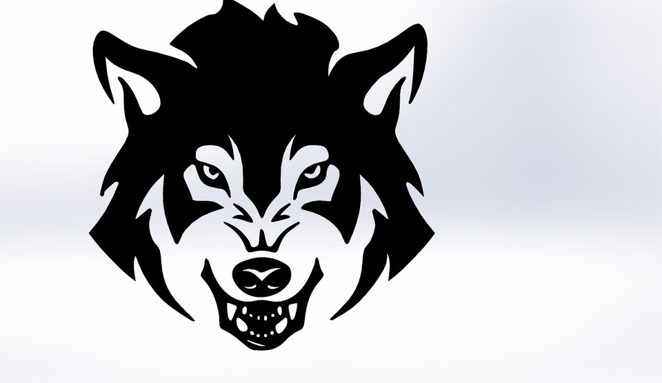 960x556 Wolf Vector 3d Cad Model Library Grabcad