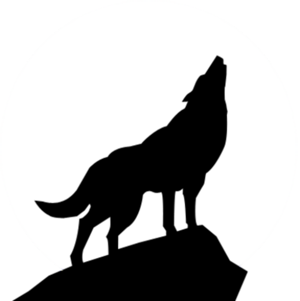 599x600 Free Clip Art Wolves Wolf Silhouette Psd Image