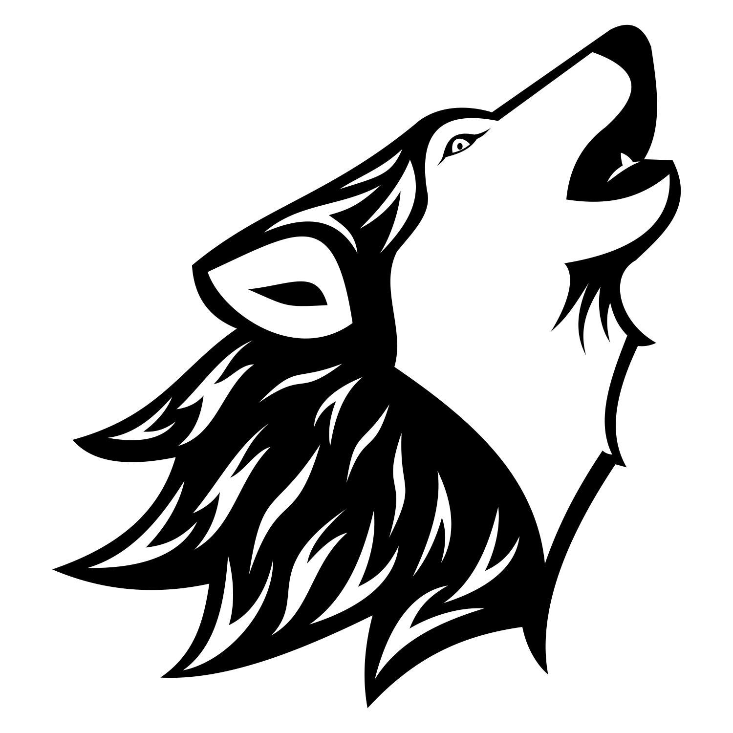 1500x1500 Wolf Vector 6 An Images Hub