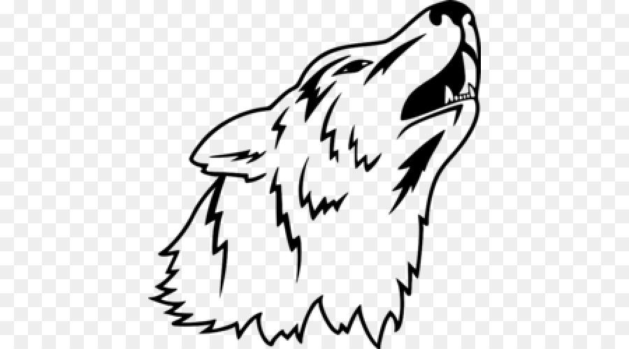 900x500 Gray Wolf Cartoon Drawing