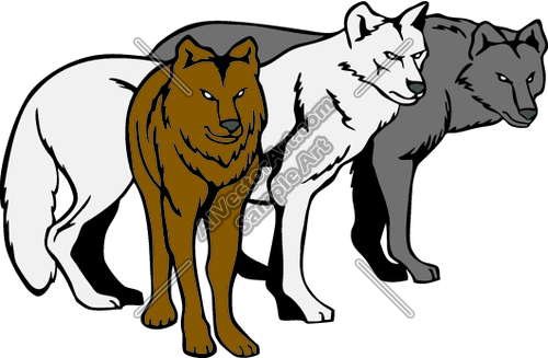 500x327 Pack Of Wolves Clipart And Vectorart Sports Mascots