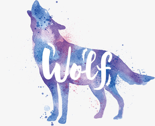 650x530 Purple Wolf Vector, Wolf Vector, Hand, Violet Png And Vector For