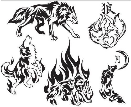 499x408 Tattoo Wolf Vector Graphic Ai Format Free Vector Download